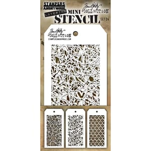 Tim Holtz: Set 24 - Mini Layered Stencil Set 3/Pkg