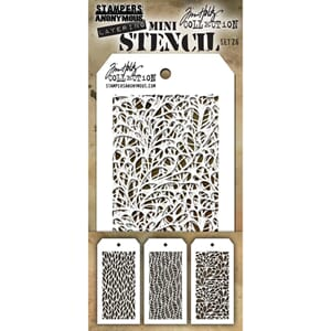 Tim Holtz: Set 26 - Mini Layered Stencil Set 3/Pkg