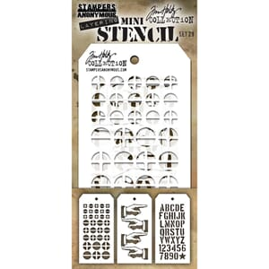 Tim Holtz: Set 28 - Mini Layered Stencil Set 3/Pkg