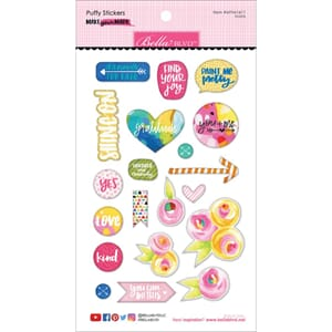 Bella Blvd: Icons Make Your Mark Puffy Stickers, 20/Pkg