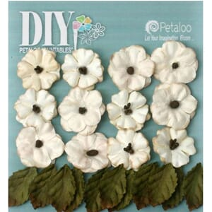 Petaloo: Teastained Cream - DIY Petites, 24/Pkg