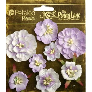 Petaloo: Soft Lavender - Mixed Blossoms, 8/Pkg