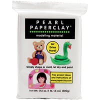 Creative Paperclay - White Pearl Paperclay, 16oz