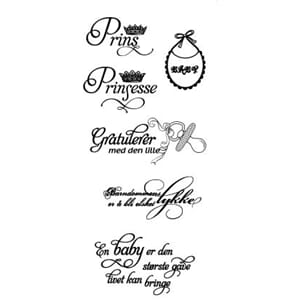 Papirdesign: Babystempel - Clear Stamps