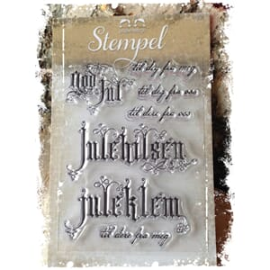 Papirdesign: God Jul til deg - Clearstamps