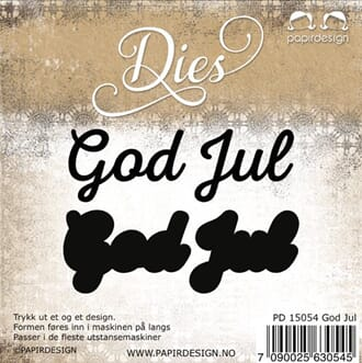 Papirdesign: God jul 1 - Dies