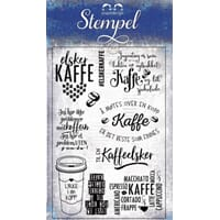 Papirdesign: Kaffe - Clear Stamps