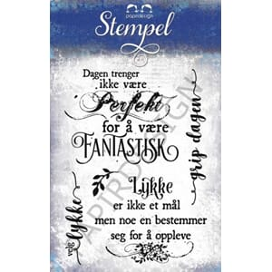 Papirdesign: Fantastisk - Clear stamps
