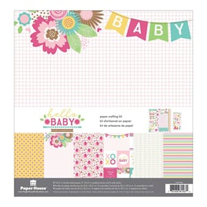 Paper House: Hello Baby Girl - Paper Crafting Kit, 12x13