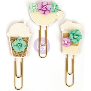 Prima: My Prima Planner Clips - Coffee & Tea Lover, 3/Pkg