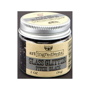 Prima: Pitch Black - Art Ingredients Glass Glitter