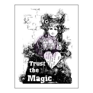 Prima: Trust The Magic - Finnabair Wood Mounted Stamps