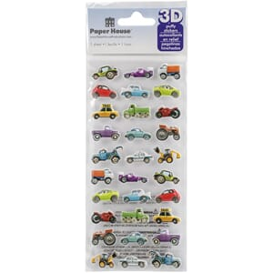 Paper House: Mini Mixed Cars - Paper House Puffy Stickers