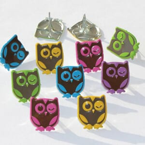 Eyelet Outlet: Winking Owls Bright - Shape Brads 12/Pkg