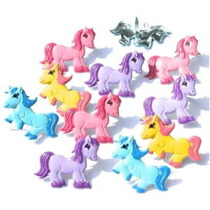 Eyelet Outlet: Pony - Shape Brads 12/Pkg
