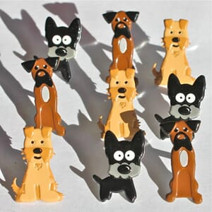 Eyelet Outlet: Puppies - Brads 12/Pkg