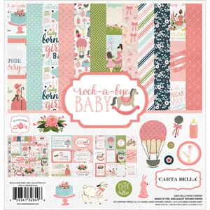 Carta Bella: Rock-A-Bye Baby Girl Collection Kit