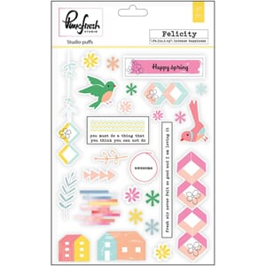 Pinkfresh Studio: Felicity Studio Puffs Stickers