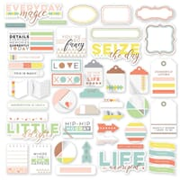 Pinkfresh Studio: Live More Cardstock Die-Cuts, 45/Pkg