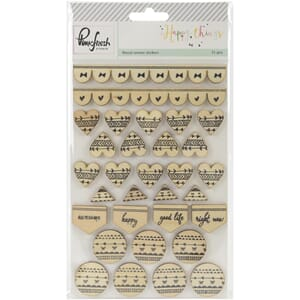Pinkfresh Studio: Happy Things Veneer Stickers, 30/Pkg