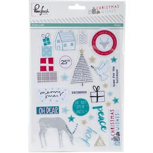 Pinkfresh Studio: Christmas Wishes Studio Puffs Stickers