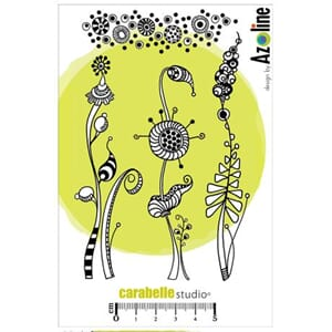 Carabelle - Herbes Folles et Texture Cling Stamps, A6