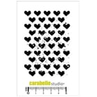 Carabelle - Background avec des coeurs Cling Stamp, A7