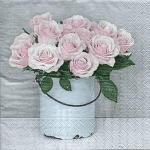 Sagen Vintage: Serviett - Bucket with roses