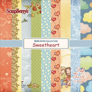 ScrapBerry's: Sweetheart Paper Pack, 6x6, 24/Pkg