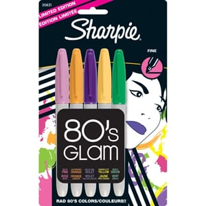 Sharpie: 80's Glam - Fine Point Permanent Markers 5/Pkg