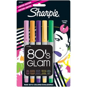 Sharpie: 80's Glam - Ultra Fine Point Permanent Markers 5/Pk