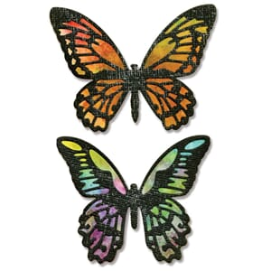 Sizzix: Detailed Butterflies Thinlits Dies, 4/Pkg