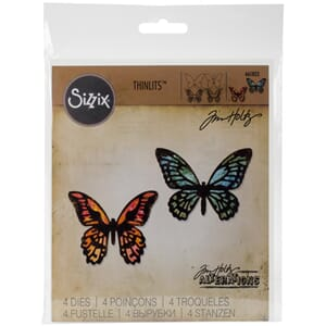 Sizzix: Mini Detailed Butterflies Thinlits Dies, 4/Pkg