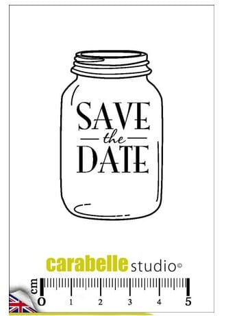 Carabelle - Save the date Cling Stamps