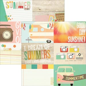 Simple Stories: 4x6  - Summer Vibes Double-Sided Cardstock