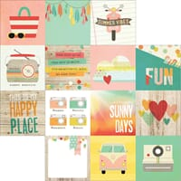 Simple Stories: 4x4 - Summer Vibes Double-Sided Cardstock