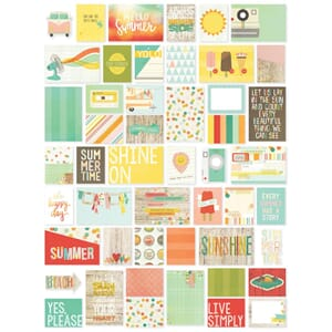 Simple Stories: Summer Vibes - Sn@p! Card Pack 72/Pkg