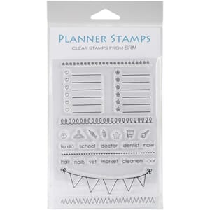 SRM: Banner - Planner Clear Stamps, 4x6 inch