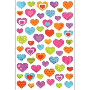 Multicraft: Hearts - Glitter Gel Stickers