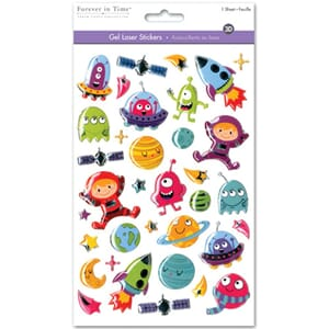 Multicraft: Outer Space - Gel Foil Fun Stickers