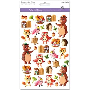 Multicraft: Woodland Friends - Puffy Foil Fun Stickers