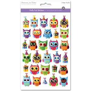 Multicraft: Owl Jubilee - Puffy Foil Fun Stickers