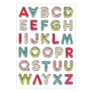 Multicraft: Vibrant Letters - Foil 3D Pop-Up Stickers