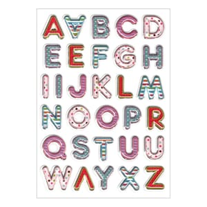 Multicraft: Posh Letters - Foil Fun Stickers
