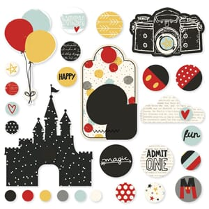 Simple Stories: Say Cheese III Metal Brads & Tags 28/Pkg