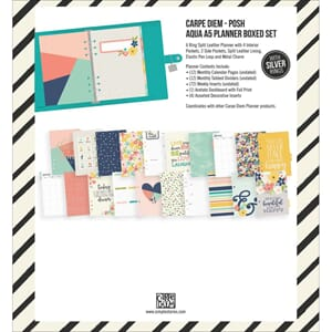 Simple Stories: Carpe Diem Aqua A5 Planner Boxed Set