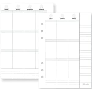 Carpe Diem Planner Essentials Double-Sided Inserts A5 72/Pkg
