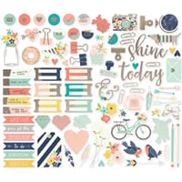 Simple Stories: Posh Bits & Pieces w/Foil, 86/Pkg