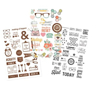 Simple Stories: Reset Girl Clear Stickers, 3/Pkg