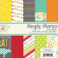 Simple Stories: Lets Party Double-Sided Paper Pad, 24/Pkg